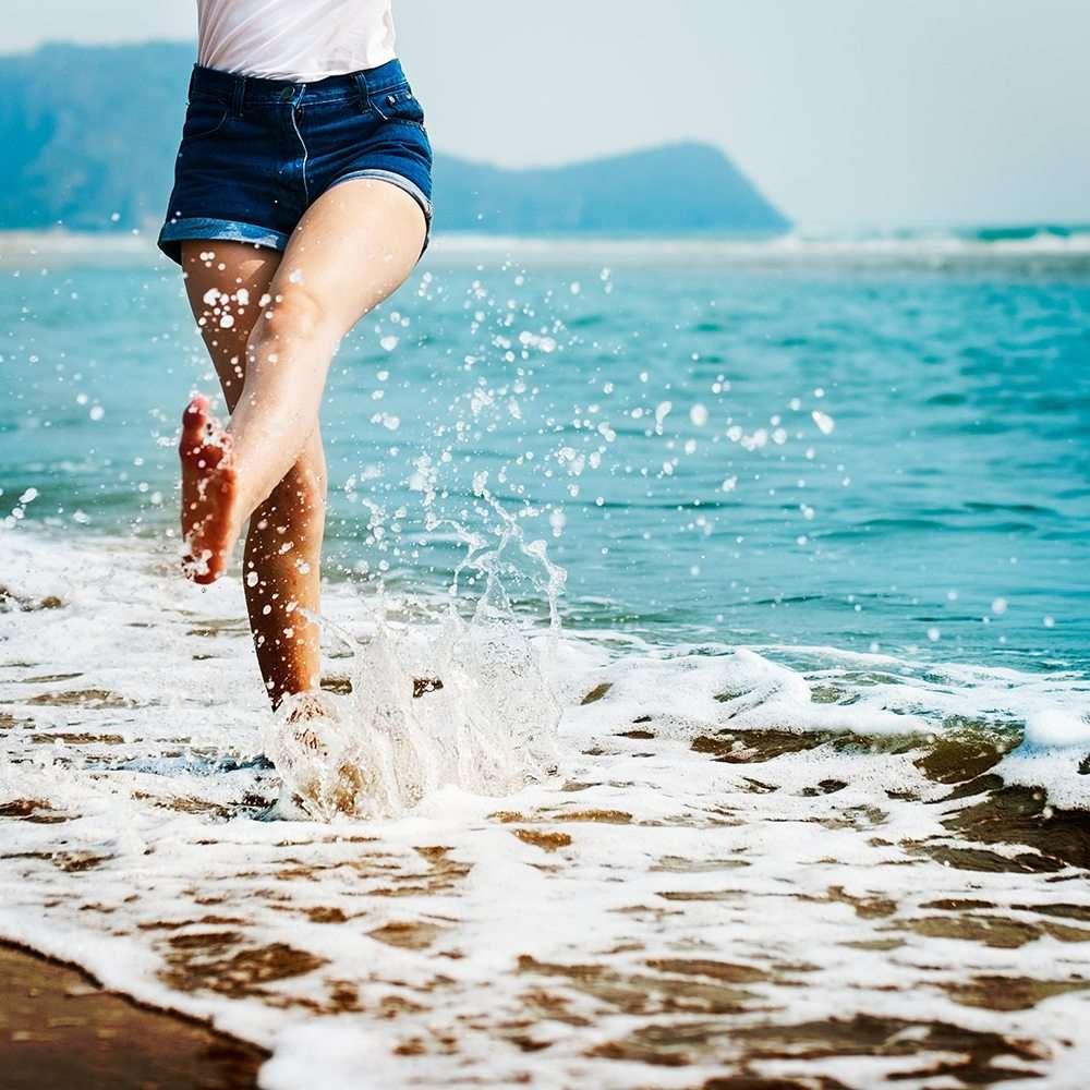 legs splashing in the water